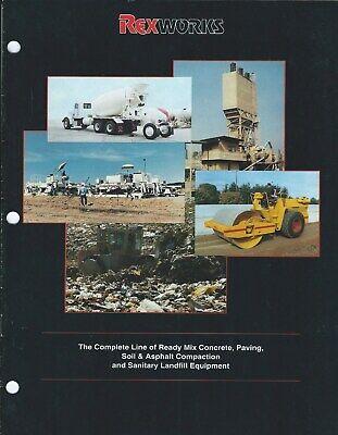 Equipment Brochure - Rex Works - Cement Mixer Landfill Compactor Et Al E6066