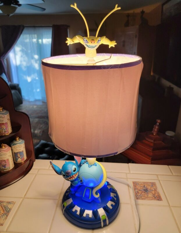 Disney Lilo and STITCH Experiment 626 Cousin Sparky Lamp - Retired - EXCELLENT