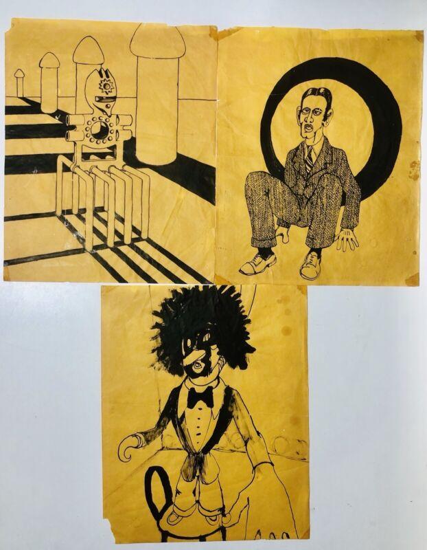 Eric Clapton Original L.S.D. Drawings