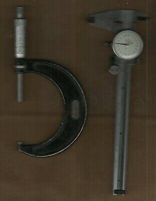 Kanon Bestool Dial Caliper 0-6 Range Starrett No. 436-3in. Micrometer