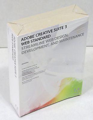 Adobe  Creative Suite 3 Web Standard Mac Cs3  Dreamweaver Fireworks Flash New