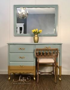 Gold Dipped Vanity/Desk