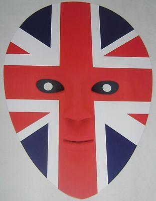 Neu Britische Union Jack-Flagge Patriotisch Gesichtsmaske Kostüm Ausverkauf