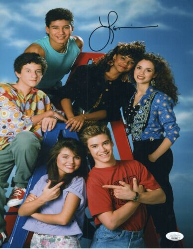 """Lark Voorhies Autograph Signed 11x14 Photo - Saved by the Bell """"Lisa"""" (JSA COA)"""