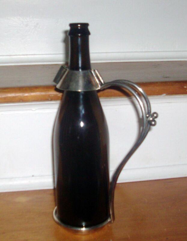 Sheffield Silver Plate Wine Bottle Carrier Goldsmiths Silversmiths 112 Regent St