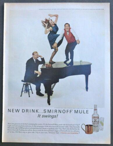 Vtg 1965 Smirnoff Vodka Killer Joe Piro advertisement print ad Dancing on Piano