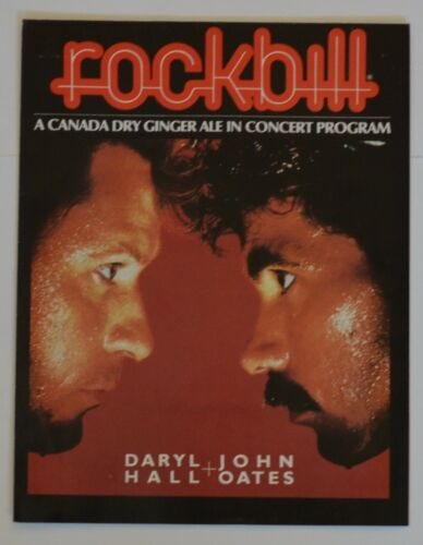 Vintage 1983 Daryl Hall John Oates Rockbill Concert Program Poster Canada Dry