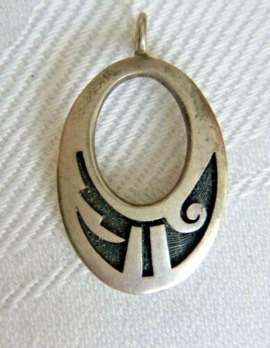 Hopi Harvey Quanimptewa Jr. Sterling Silver Overlay Pendant Hallmarked 3.1 Grams