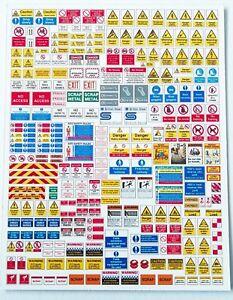 240 signs N gauge track side industries, warehouses, depots, buildings N scale