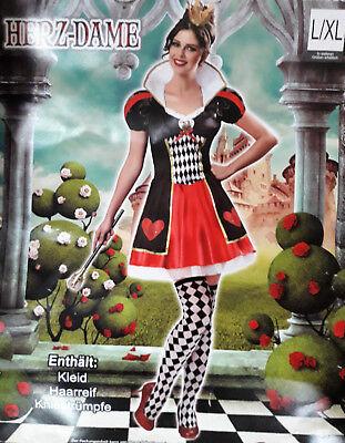 Frauenkostüm Herzdame Kostüm Frauen Karneval Fasching Halloween Fantasy Märchen
