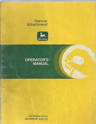 John Deere Harrow Attachment Operators Manual Om-n200008 Issue G2