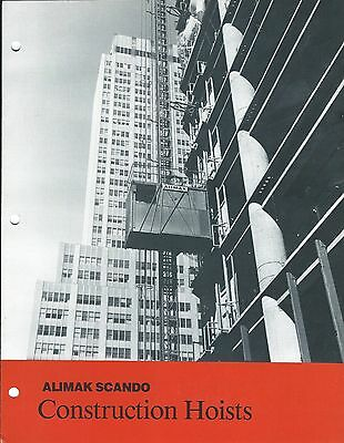 Equipment Brochure - Alimak Scando - Construction Hoists Lift Elevator E3418