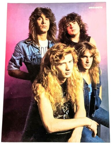 MEGADETH / DAVE MUSTAINE / MAGAZINE FULL PAGE PINUP POSTER CLIPPING + DVD (11)