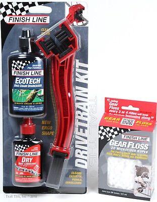 Finish Line Starter Kit 1-2-3: Grunge Brush + 2oz DRY Lube +