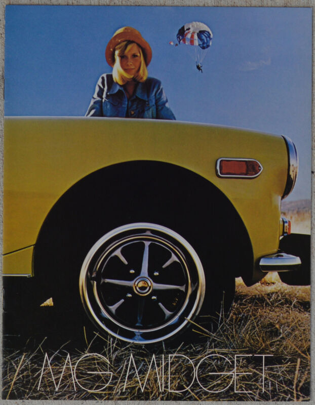 MG Midget January 1974 fold out brochure showroom fresh