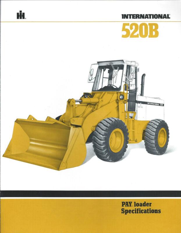 Equipment Brochure - International IH - 520B - Pay Loader Wheel - c1981 (E3071)