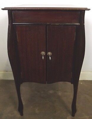 Antique Edwardian Mahogany Music Cabinet Record Cupboard