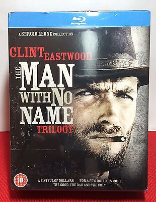 Clint Eastwood  The Man With No Name Trilogy Blu Ray Disc  3 Discs New Free S H