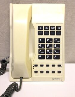 vintage collectable telstra phone beige for sale