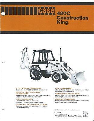Equipment Brochure - Case 480c Construction King Loader Backhoe - C1979 E4124