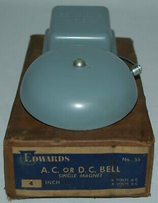 Vintage Edwards Signaling Bell Gas Station Fire School Boxing Alarm Bell Nos
