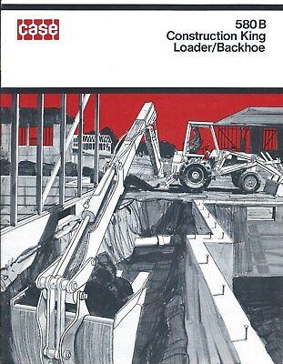 Equipment Brochure - Case - 580b Construction King Loader Backhoe C1971 E3857