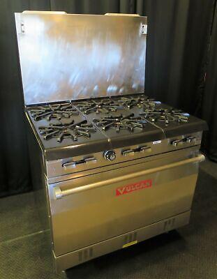 Vulcan Natural Gas 6-burner Stove Range W Standard Oven 2
