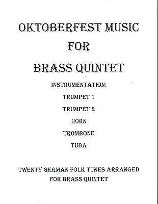 Oktoberfest Music Brass Quintet Sheet Music