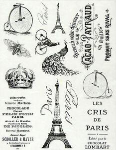 Ricepaper decoupage paper scrapbooking sheets vintage - Boutique scrapbooking paris ...