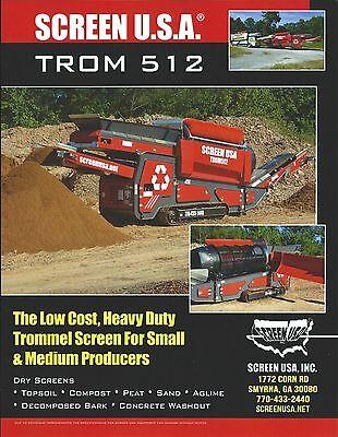 Equipment Brochure - Screen Usa - Trom 512 - Trommel Screen E3640
