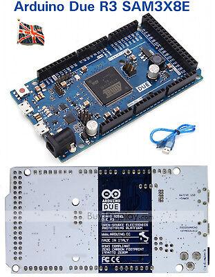 Arduino Due R3 Sam3x8e 32-bit Arm Cortex-m Control Board Module Cable Uk Stock