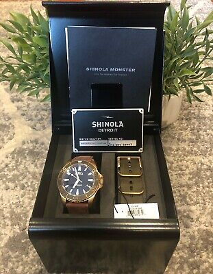 Shinola Bronze Monster 43mm Men's Watch Complete