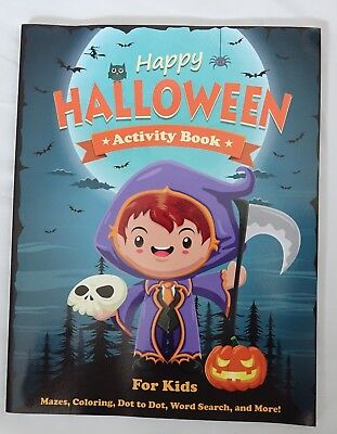 Happy Halloween Activity Book for Kids: Mazes, Coloring, Dot to Dot, Word - Dot To Dots Halloween