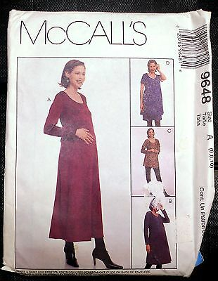 New! Simplicity #9648 Maternity Dress, Skirt, Pants Sz 6, 8, 10