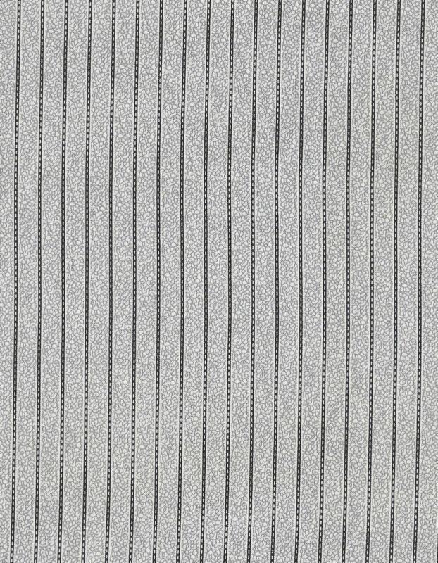Antique 1890 Gray Black Stripe Shirting Fabric