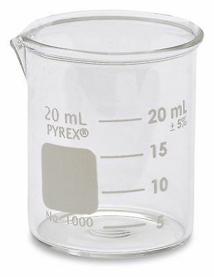 Corning Pyrex 1000 Griffin Low Form Glass Beaker 20ml - Single