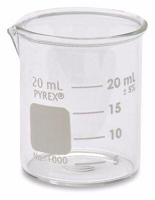 Corning Pyrex 1000 Griffin Low Form Glass Beaker 20ml - Single