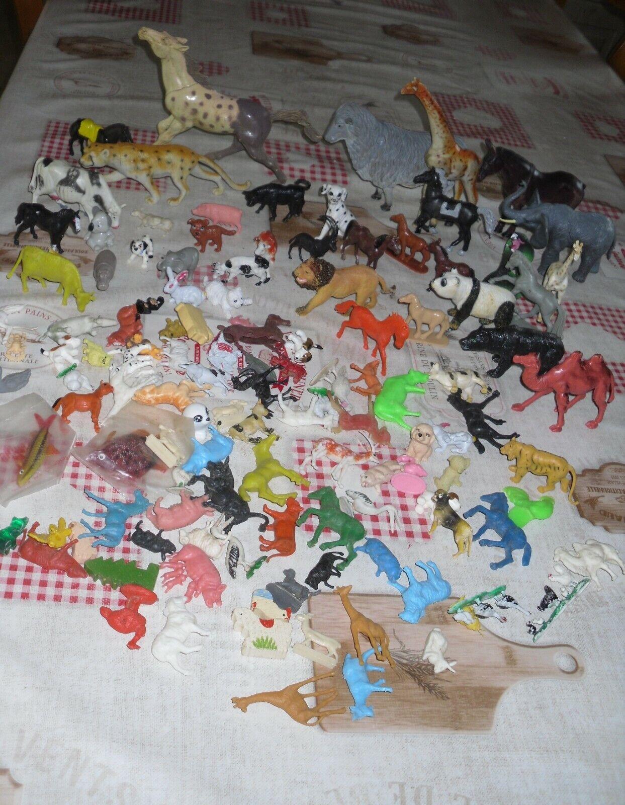 Lot 120 petites et moyennes figurines animaux  vintage (diverses tailles)