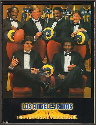 1985 LOS ANGELES RAMS NFL FOOTBALL OFFICIAL YEARBOOK