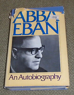 Abba Eban: An Autobiography by Abba Solomon Eban (1977, Book, Illustrated) FIRST
