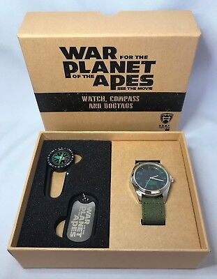 War for the Planet of the Apes Promotional Watch Compass & Dogtag - New in Box