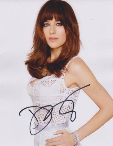 Dakota Johnson Signed Fifty Shades Of Grey 10x8 Photo AFTAL