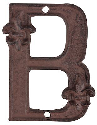 Esschert Design Hierro Fundido Número de Casa B Braun Metal Letra Ampliación