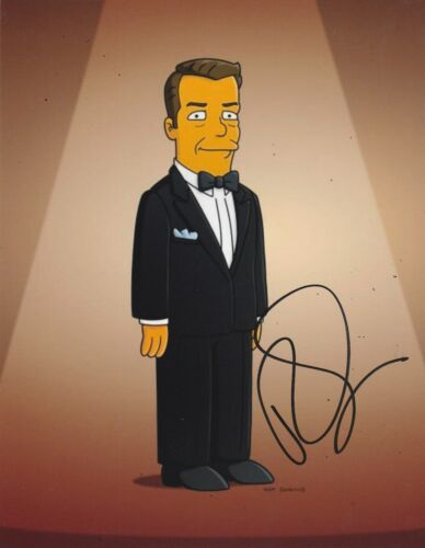Ricky Gervais Signed THE SIMPSONS 10x8 Photo AFTAL OnlineCOA