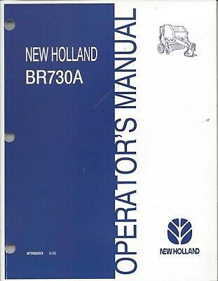 New Holland Br730a Round Baler Operator Manual 87056203