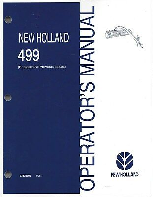 New Holland 499 Discbine Mower-conditioner Operators Manual 87378895