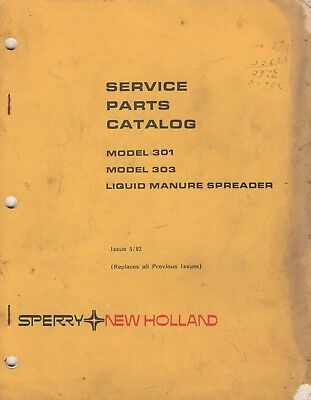 5-1982 New Holland Liquid Manure Spreader Models Service Parts Manual 440