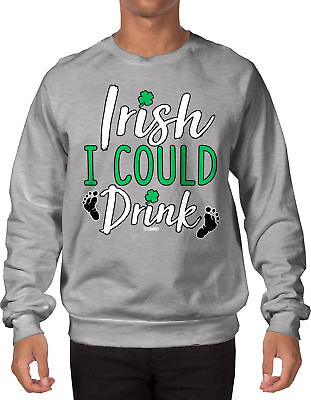 Irish I Could Drink - St Patricks Day Beer Pint Clover Shamrock baby SWEATER