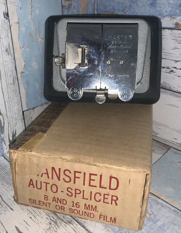 Mansfield Auto-splicer 8 And 16 Mm Silent Or Sound Film