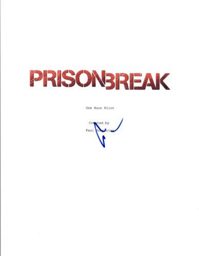 Dominic Purcell Signed Autographed PRISON BREAK Pilot Episode Script COA VD